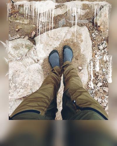 Bosé nohy v zimě