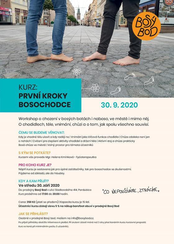 První kroky bosochodce WORKSHOP 30.9.2020