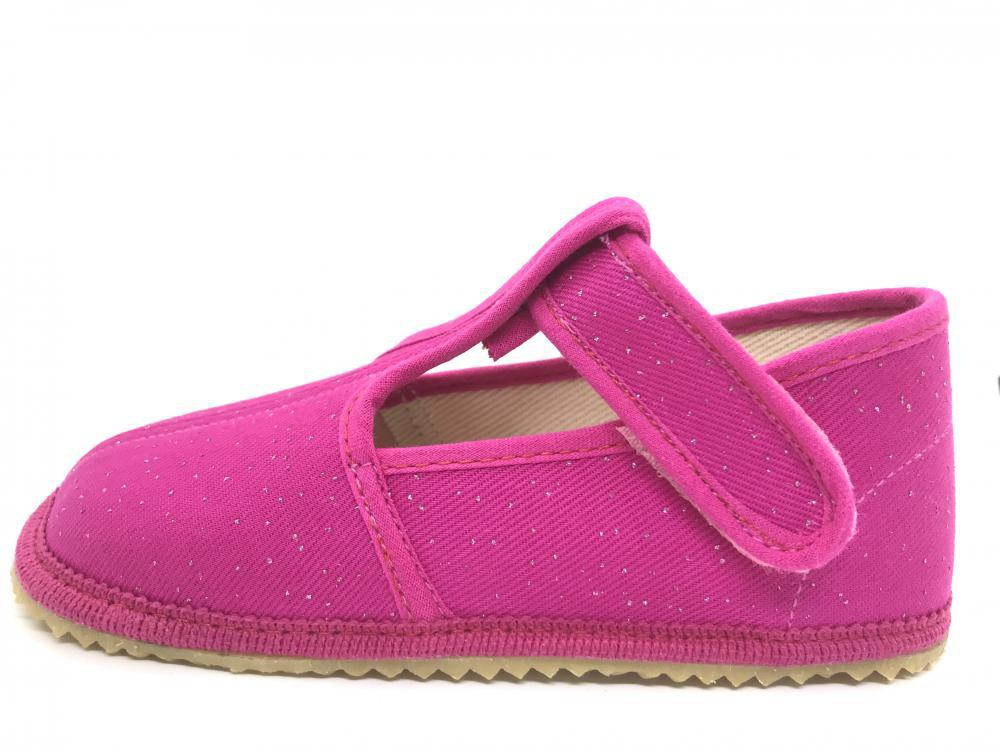BEDA barefoot bačkůrky růžová třpytka 060010/W