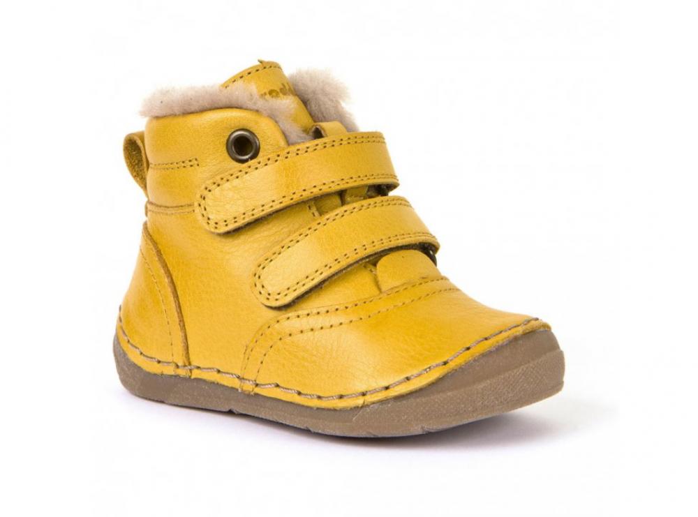 Froddo G2110078-7 Yellow Dětská zimní obuv