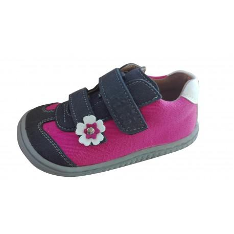 Filii Barefoot Leguan velcro velours/textile ocean/pink W náhled