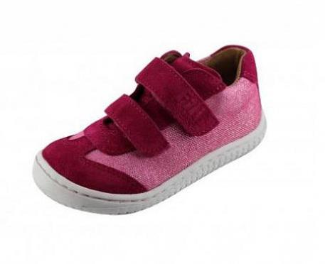 Filii barefoot LEGUAN Velcro Velours/Textile Pink