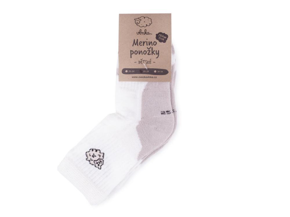 Ovčí ponožky Merino dětské