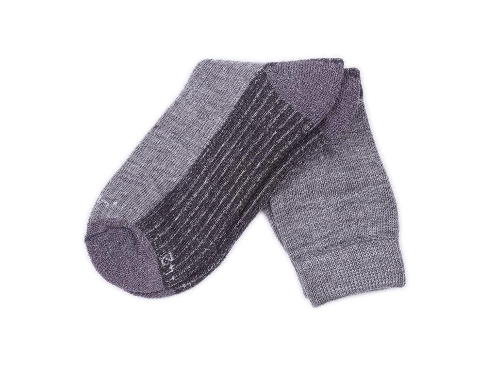 Ovčí ponožky Merino se zdravotním lemem, tmavě šedá