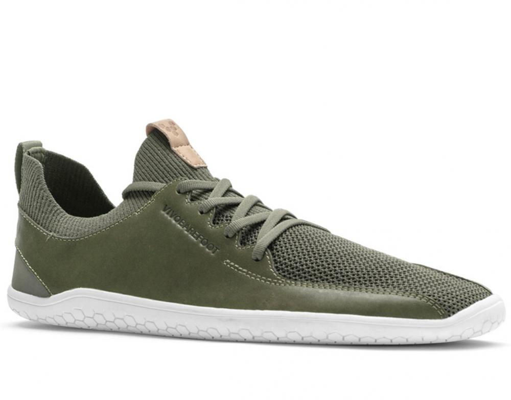 Vivobarefoot PRIMUS KNIT M Olive green Leather náhled