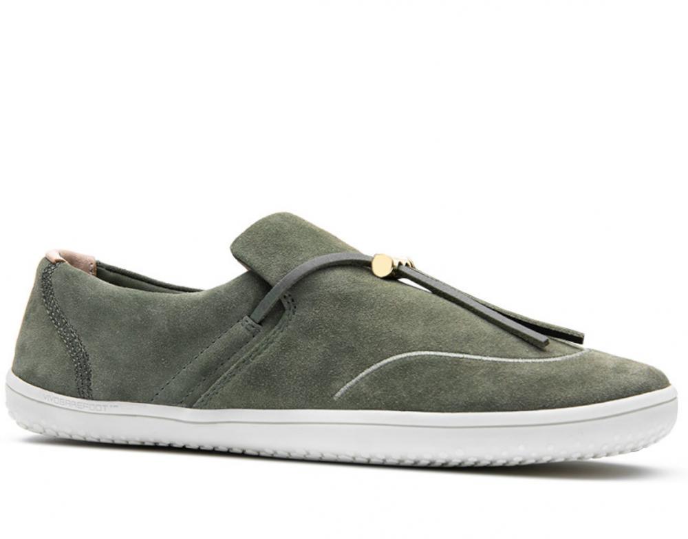 Vivobarefoot  Ra Slip On L Olive Green Leather