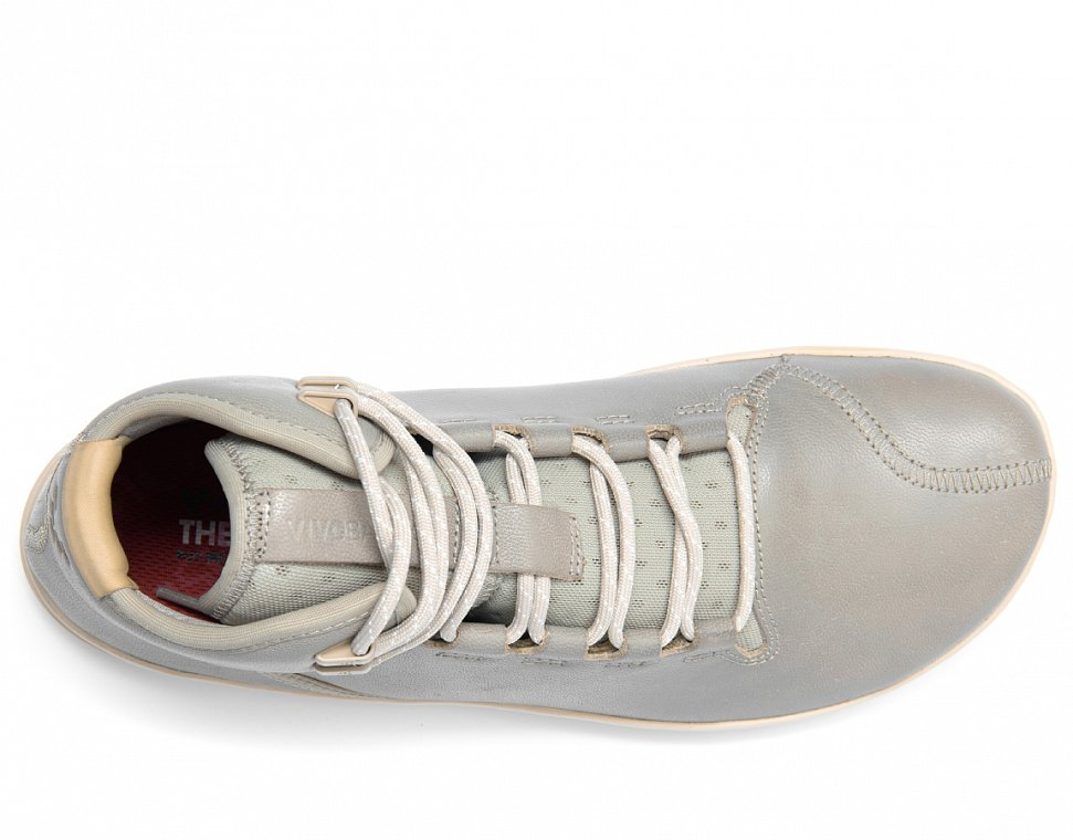 Vivobarefoot Borough M Leather Light Grey