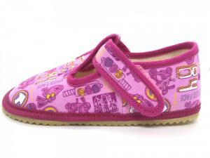 BEDA barefoot bačkůrky růžové znaky 060010/W náhled