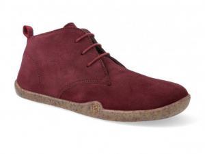 Barefoot kotníková obuv bLifestyle classicSTYLE - bio velours wool cranberry náhled