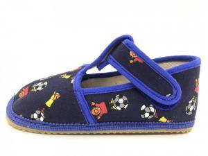 Beda barefoot bačkůrky modrý fotbal 060010/W náhled