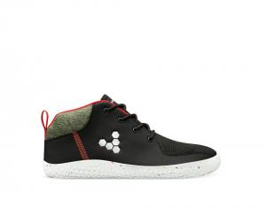 Vivobarefoot Primus Bootie All Weather Kids Obsidian náhled
